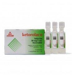 Ketorolaco trometamina 30 mg c/3 ampolletas