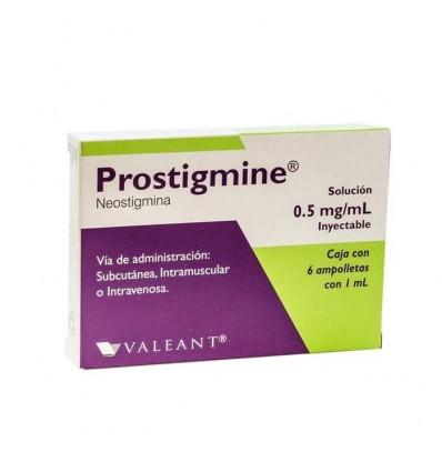 Prostigmine 0.5mg/ml c/6 amp