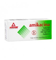 Amikacina 100mg solución inyectable c/1