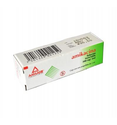 Amikacina 500 mg inyectable c/1