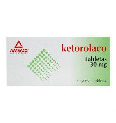 Ketorolaco 30 mg c/6 Sublingual