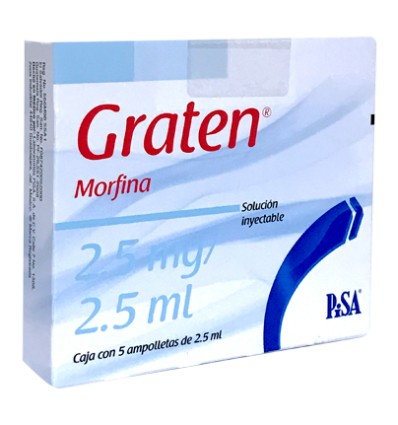 Graten 2.5 mg / 2.5 ml c/ 5 ampolletas