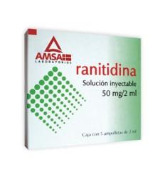 Ranitidina 50 mg solución inyectable