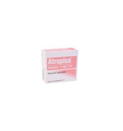 ATROPISA (ATROPINA) 1 MG/1ML SOLUCIÓN INYECTABLE CAJA C/50 AMPOLLETAS 1 ML