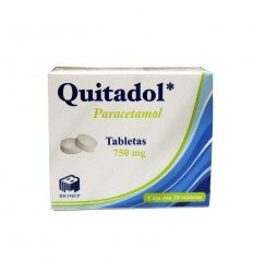 Quitadol 750 mg c/ 10 tabletas