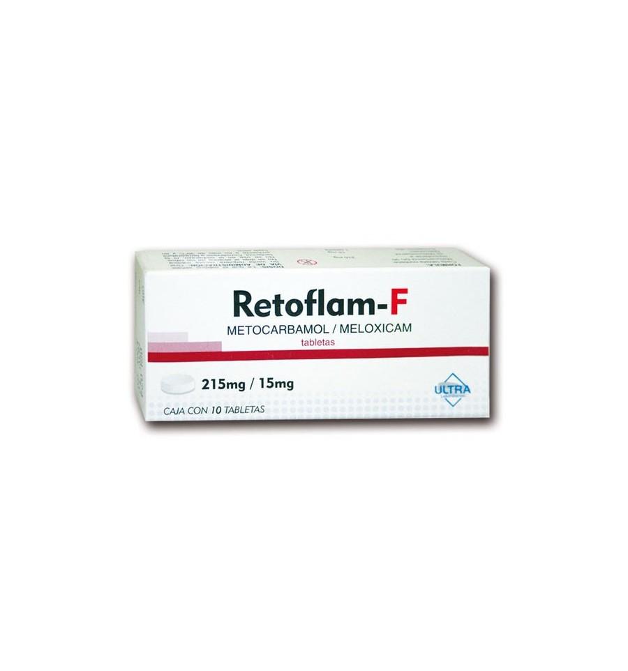Retoflam F C 10 Meloxicam 15 Mg Metocarbamol 215 Mg Unión De Compras De Farmacias De Nuevo León