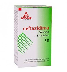 Ceftazidima 1 g Solución Inyectable 3 ml