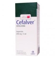 Cefalver Suspensión 250 mg / 5 ml (Cefalexina) frasco con 90ml