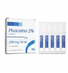 Pisacaina 2% 200 mg/10 ml c/10 ampolletas (Lidocaína)