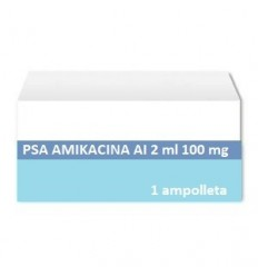 Amikacina AI 2 ml 100 mg c/1 ampolleta