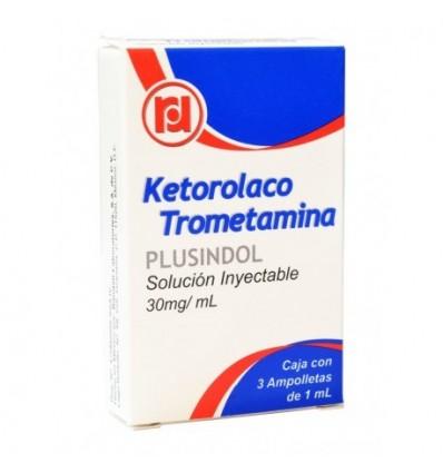 Ketorolaco trometamina Inyectable 30 mg c/3 ampolletas