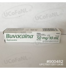 Buvacaina 50 mg/10 ml Bupavacaina Sol. Inyectable c/1 ampolleta