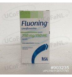 Fluoning Levofloxacino 750 mg/150 ml Sol. Iny. I.V. Frasco Mini-O-Val