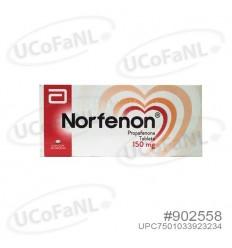 Norfenon 150 mg Propafenona c/ 30 Tabletas