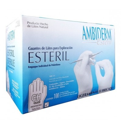 Guante de Latex Ambiderm Confort Chico c/100