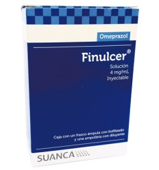Finulcer Omeprazol 40 mg/ml solución inyectable