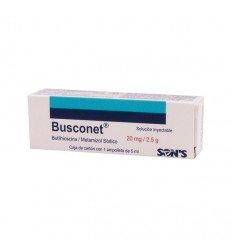 Busconet Butilhioscina / Metamizol Sodico - 20mg/2.5g
