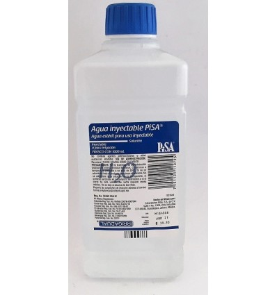 Agua Inyectable 1000 ml esteril
