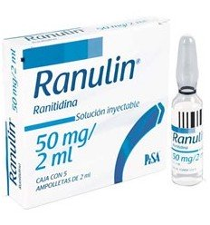 Ranulin 50 mg / 2 ml c/5 amp