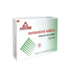 METAMIZOL SODICO SOLUCIÓN INYECTABLE 1G / 2 ML CON 3 AMPOLLETAS